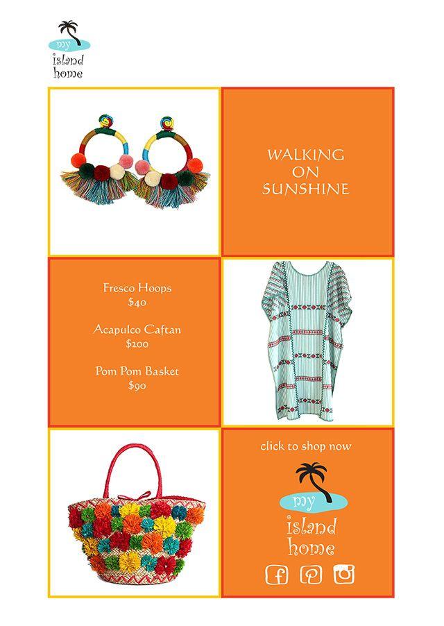 ✴️ Sunshiney Days ✴️ #pompoms #tassels #caftan #kaftan #dress #justaddbeach #shoponline #myislandhome