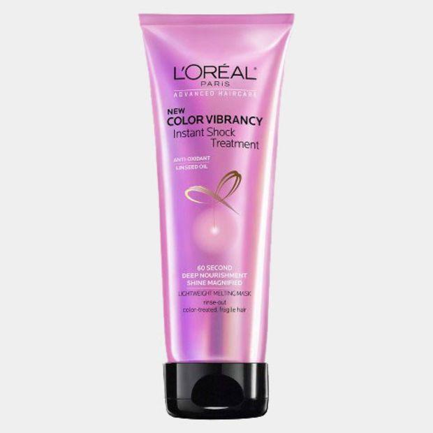 L'Oréal Advanced Haircare Color Vibrancy Instant Shock Treatment, $7 #damagedhair #deepconditioning #xojane