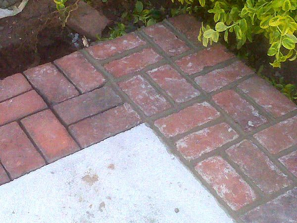 Delightful Brick Border Around Concrete Patio