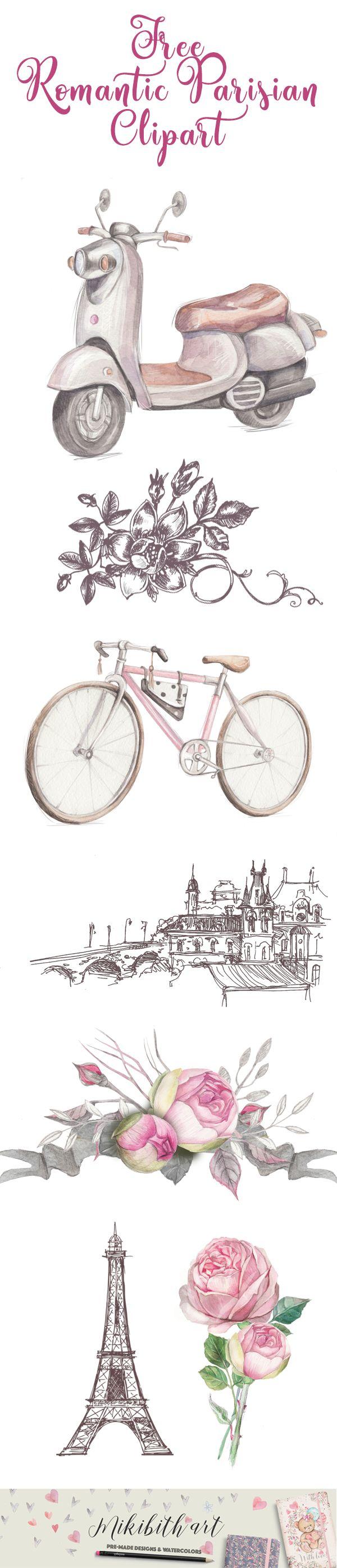 Free Romantic Parisian ClipArt