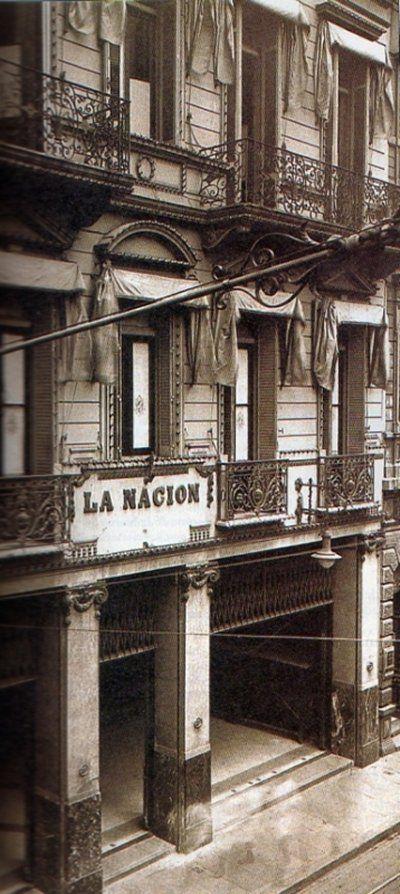 l edificio de La Nación en su primitiva ubicación, en San Martín