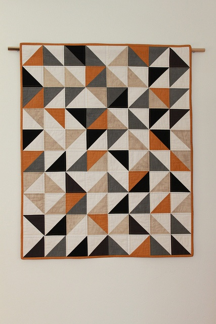 I really love the colors in this :): Half Squares Triangles, Quilt Projects, Baby Quilts, Quilt Patterns, Triangle Quilts, Awesome Quilt, Beautiful Quilt, Triangles Quilt, Geometric Shape