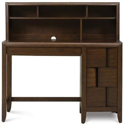 Y1876-31 Twilight Next Generation Youth Desk with Hutch in Chestnut Finish