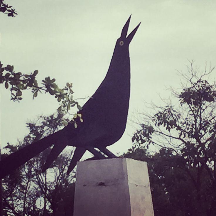 Monumento a la Mariamulata. Tipica ave de la ciudad de cartagena