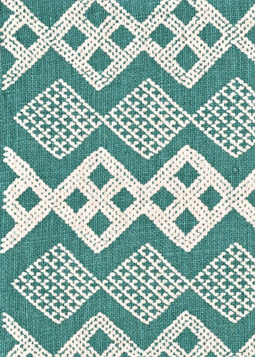 Pattern: Tangier Style No: M-6472 Color: Teal/Natural