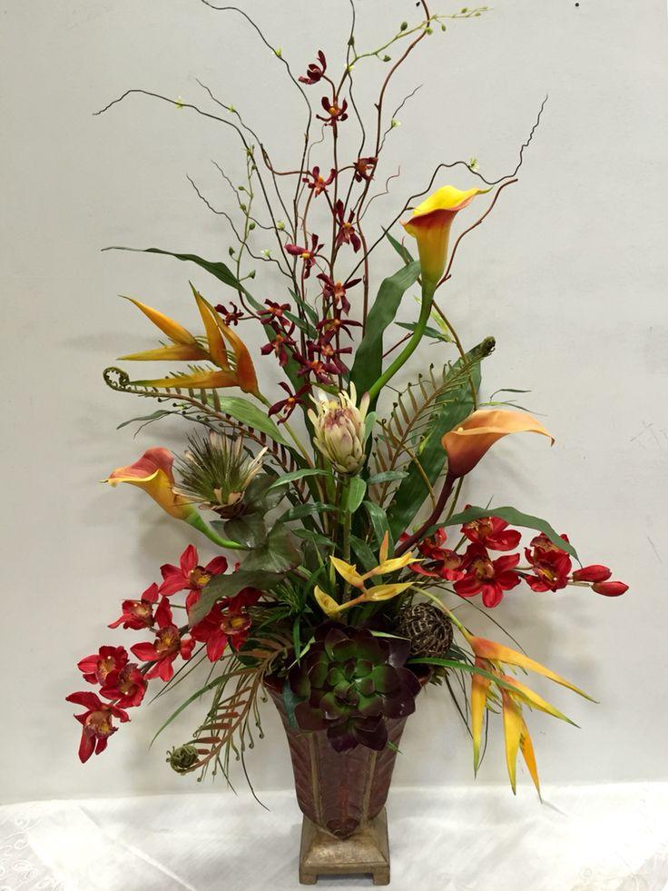 12 best Silk Flower Arrangements images on Pinterest Silk - silk arrangements for home decor