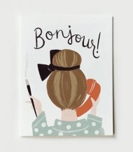 Bonjour Card by Rifle Paper Company