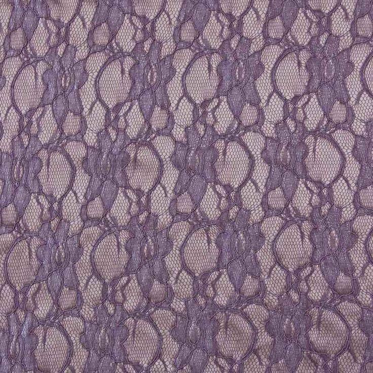 Bonded Lace Taupe 138cm - Lace - Dressmaking Fabrics - Fabric