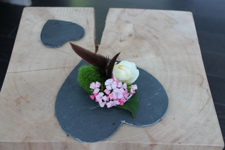 Rose feather corsage