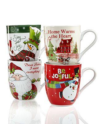 Fitz and Floyd Drinkware, Holiday Mug Collection