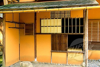 A detail of the exterior of the Katsura Imperial Villa, Kyoto, Japan.