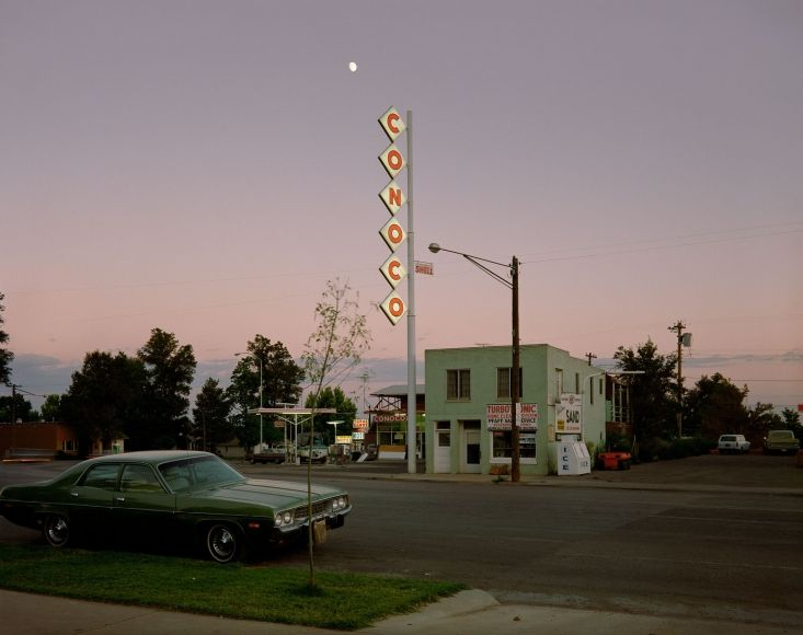 Stephen Shore, Conoco Sign, Center Street, Kanab, Utah, August 9, 1973