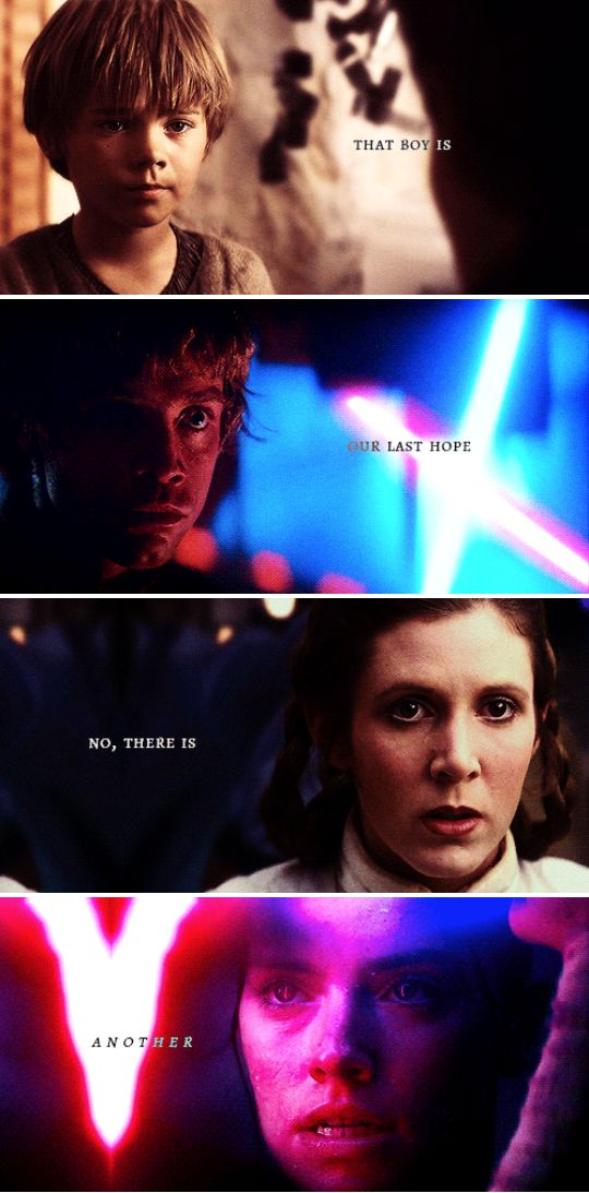 That boy is our last hope. No, there is another. #sw