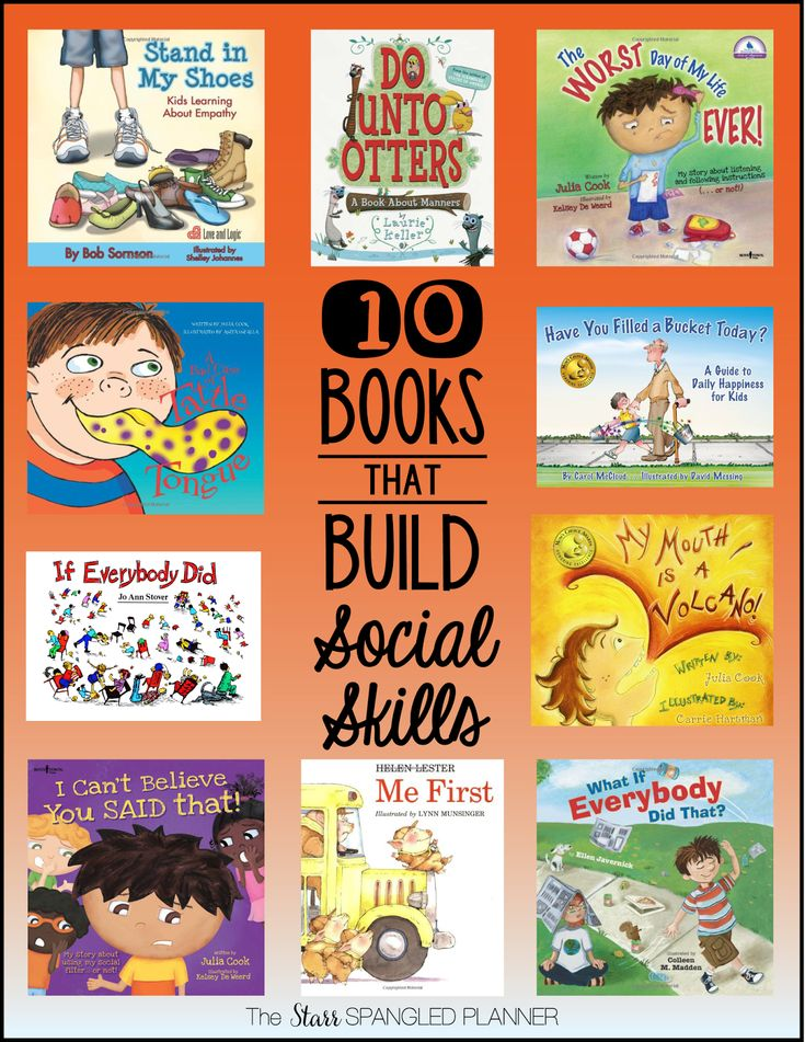 10 Books that Build Social Skills + many other must-have book lists in this blog post!