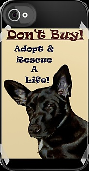 Don't Buy! Adopt & Rescue A Life! Dog iPhone & iPod Cases  by Patricia Barmatz