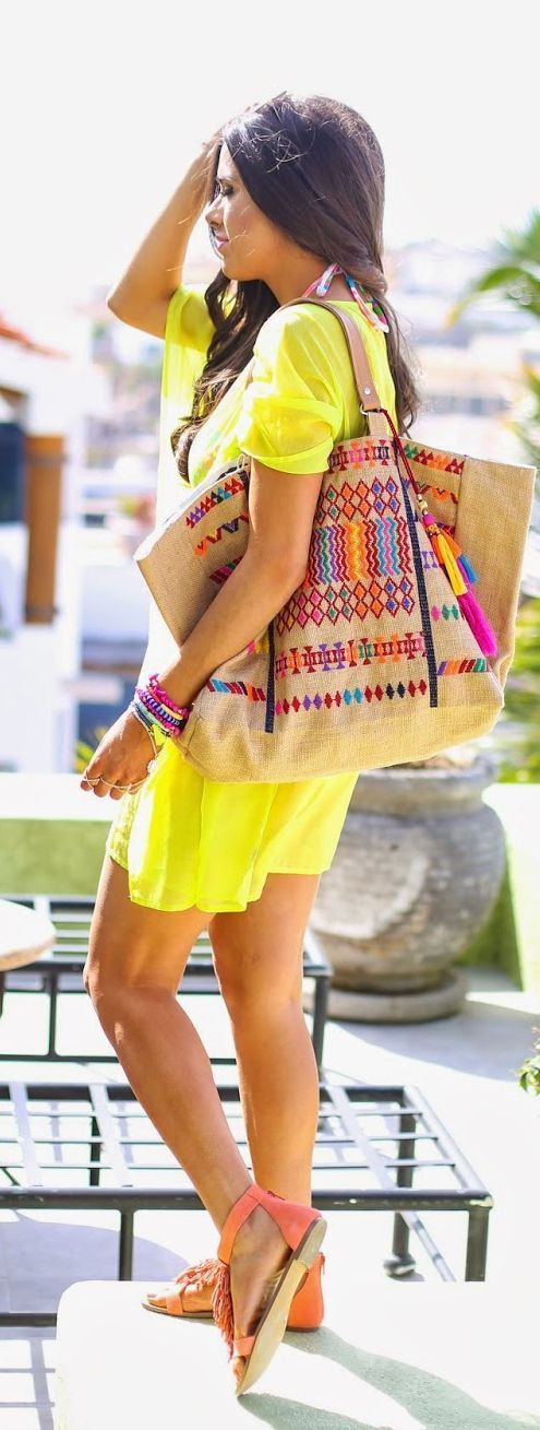 Full Of Neon Colors Beach Style - The Sweetest Thi...