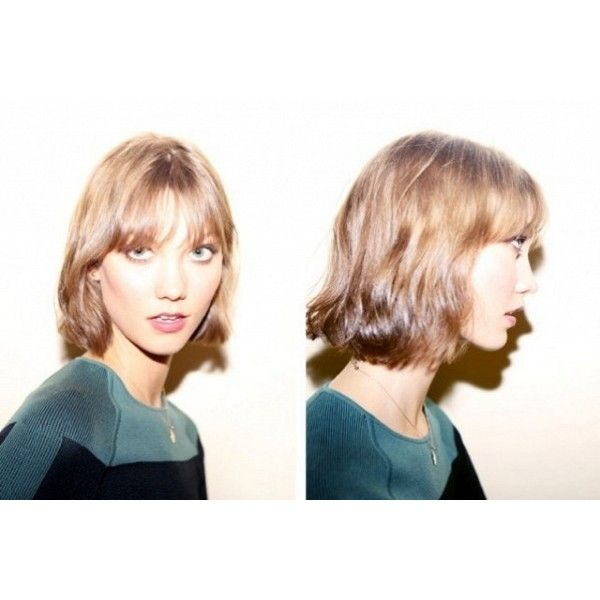 Karlie Kloss' haircut: is it the new 'Rachel'? ❤ liked on Polyvore featuring karlie kloss and models