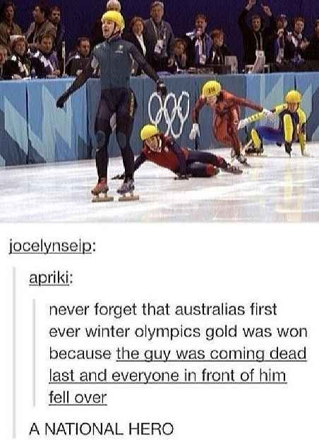 The truth about that gold medal. | 22 Important Lessons From Tumblr About Australia
