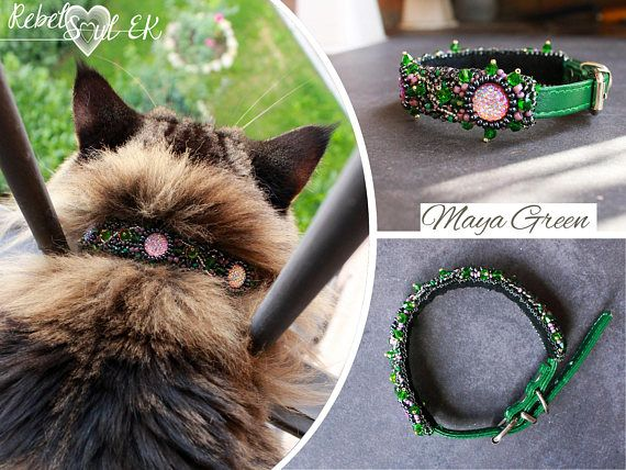 Cat collar Embroidery for Pets Dog Collar Pet Accessories