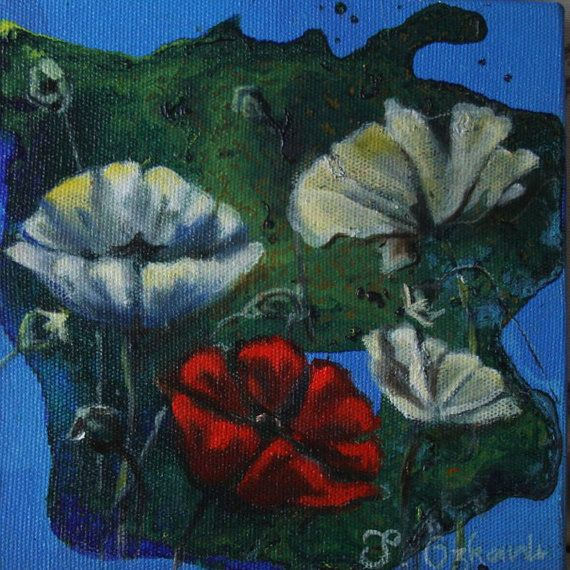 6x6 inches oil painting on canvas , flower