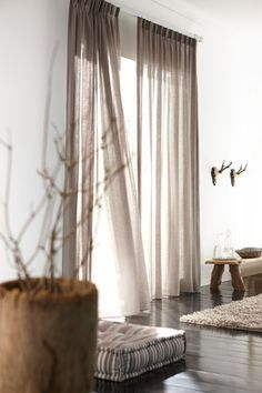 1000 Ideas About White Linen Curtains On Pinterest