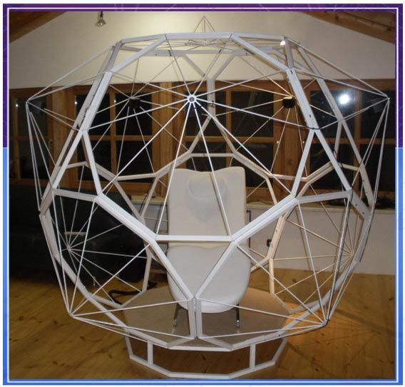 The Sound Chamber unleashes the power to harmonize through sound and ancient geometry and is constructed out of thick safe metal. http://creativeharmonicsolutions.com/index.php/cellular-body/harmonic-technologies-sound-chamber/
