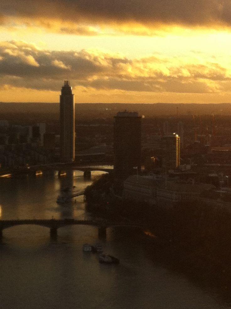 Sunset over River Thames