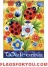 Ladybug Welcome Garden Flag