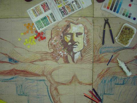 Under mosaic sketch
