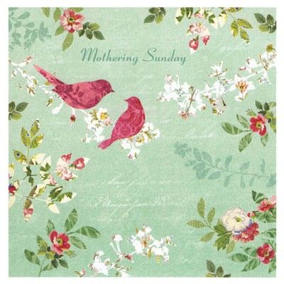 Beautiful Mothering Sunday card, published in support of the National Trust, and illustrated with a design inspired by wallpaper from the parlour at Carlyle's House, London