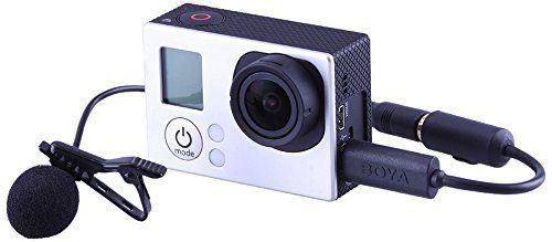 Neewer® LM20 Micrófono de condensador omnidireccional con pinza para corbata manos libres para GoPro HERO4, HERO3+, HERO3, videocámaras