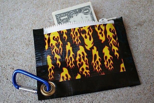 Duct Tape zipper pouch