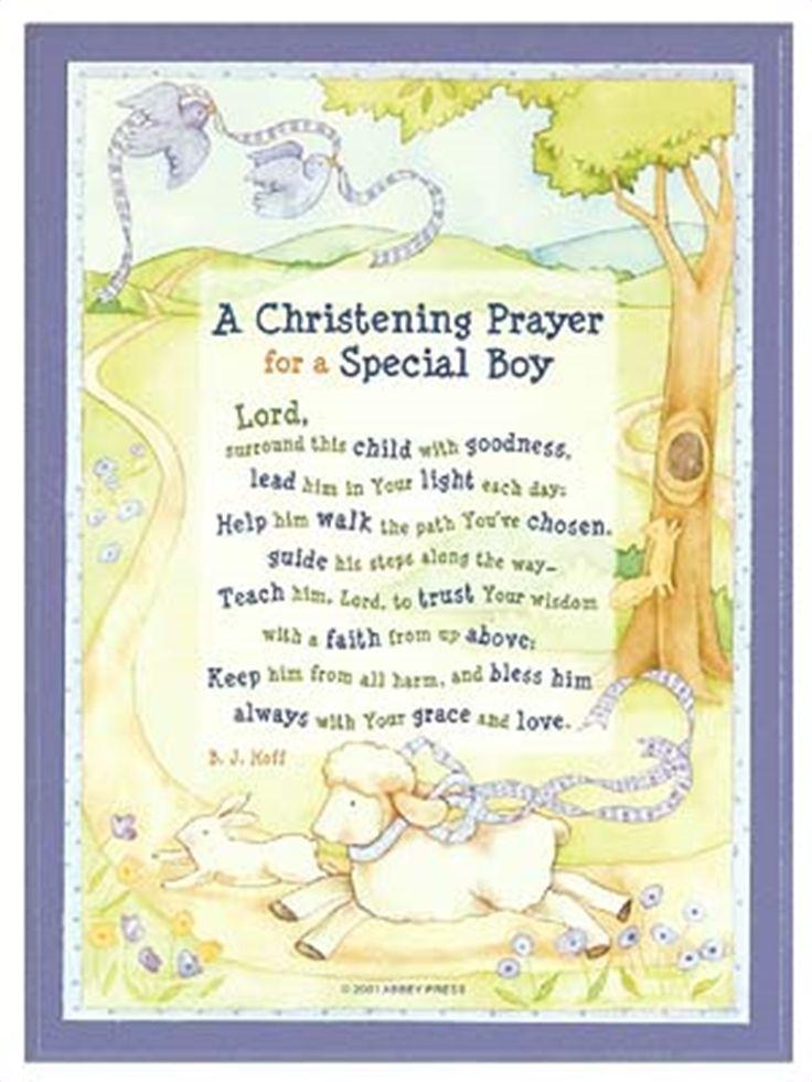 Christening Prayer Plaque Boy Christening Baby Boy