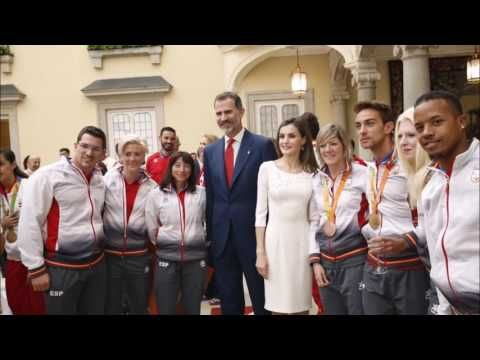 King Felipe and Queen Letizia received Olympic and Paralymic medallists