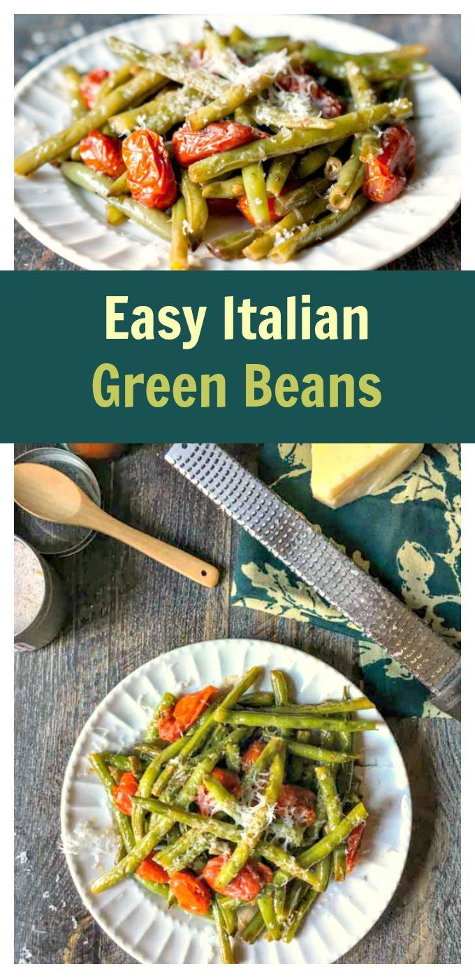 Easy Italian Green Beans - an easy, healthy side dish with simple ingredients and big taste!