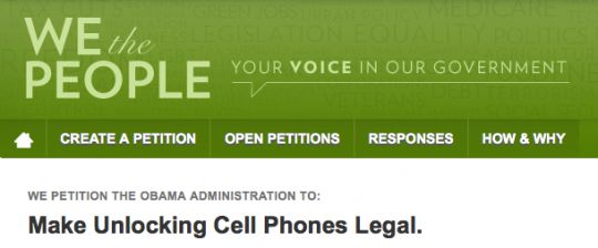 Unlocking your phone: Petition started to make it legal