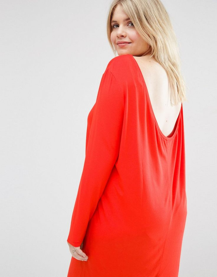 Image 3 of ASOS CURVE Mini Dress with Cowl Back