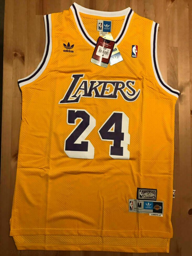 Kobe Bryant #24 Los Angeles Lakers Vintage Throwback Gold / Yellow ...