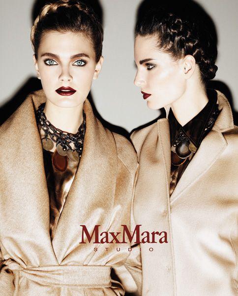MAXMARA studio fall winter 10/11  photo: Giampaolo Sgura  art direction: Marco Braga  models: Constance Jablonski, Iris Strubbeger