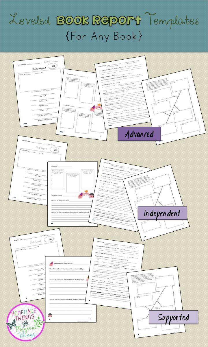summer book report template