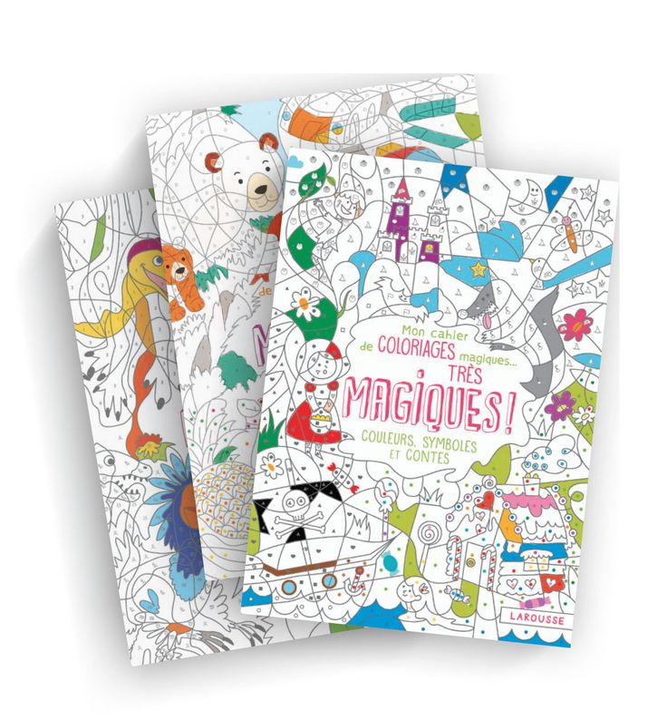 Mes cahiers de coloriages magiques... très magiques ! - Couleurs, chiffres et lettres + Couleurs, chiffres et dinosaures + Couleurs, symboles et contes - Lot de 3 cahiers de 32 pages , Couvertures souples -   Age : 6 ans et plus -   Référence : 422565 #Jeux #Jouet #Famille #Enfant #Chalet #Vacances #Cadeau