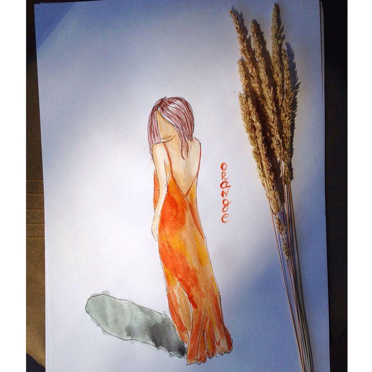 #скетч #арт #карандаш #акварель #watercolor #эскиз #artwork #дудластик #картинка #скетчбук #sketchbook #sketch #doodle #дудл #иллюстрация #illustration #art #drawing #рисунок #childrenillustration #рисуемкаждыйдень #doodlastic #topcreator #art_we_inspire #art_markers #doodlasticjun15 #orange #dress #fashion #illustration #girl #платье #мода #оранжевый
