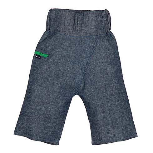 Denim Pants Thai Style Green Zip by Lasticot