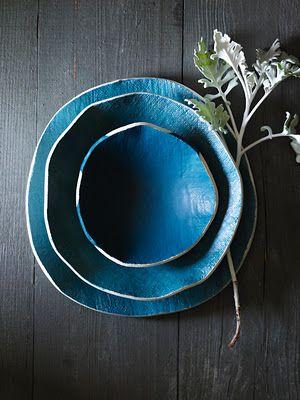plates: Dreams Home, Color, Blue, Organizations Shape, Elephants Ceramics, Natural Design, Sweet Paul, Home Organizations, Ceramics Bowls