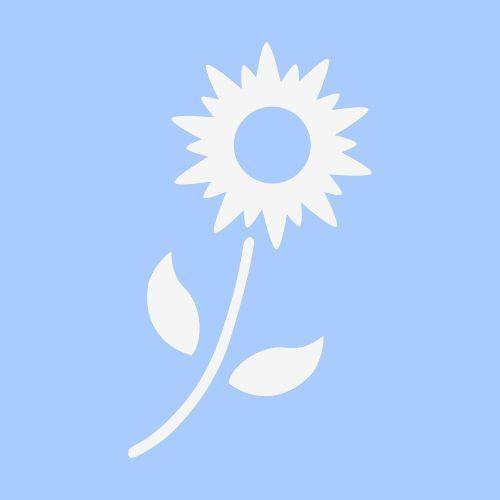 "FLOWER STENCIL FLOWERS LEAF TEMPLATES BACKGROUND TEMPLATE CRAFT NEW 6"" X 5"" #STENCILSCRAFTSINC"