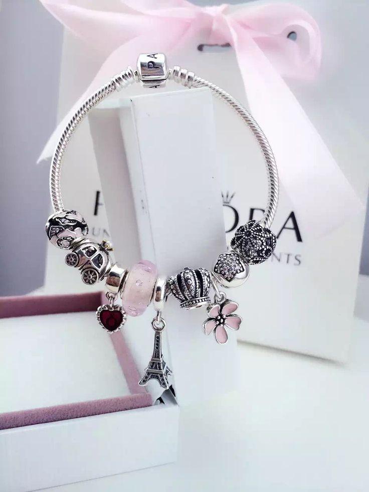 50% OFF!!! $239 Pandora Charm Bracelet Pink. Hot Sale!!! SKU: CB01086 - PANDORA Bracelet Ideas
