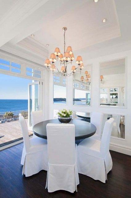 all white + ocean view