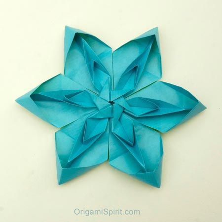 how to make a tessellated origami flower post image. Black Bedroom Furniture Sets. Home Design Ideas