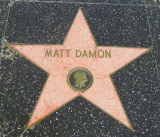Hollywood walk of fame star ~ Matt Damon~ Actor