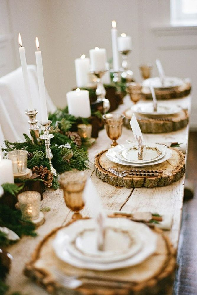 51 Charming Winter Wedding Decorations Wedding Forward Winter Table Decorations Homemade Christmas Table Decorations Rehearsal Dinner Decorations